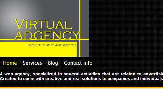 VirtuAd Agency uses Easy WebContent Site Builder to create professional website and portfolio