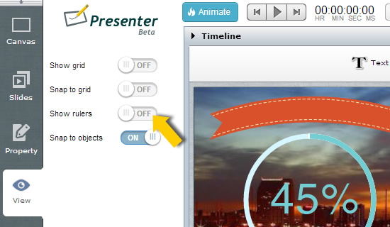 View Options on Presenter Easy WebContent