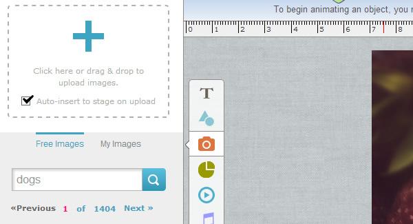 Upload images to HTML5 Presentation Online