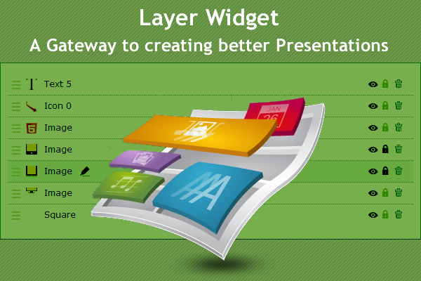 Layer Widget for Presentations and infographics