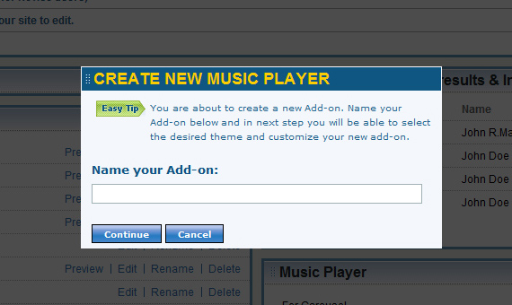 Create music players and organize them