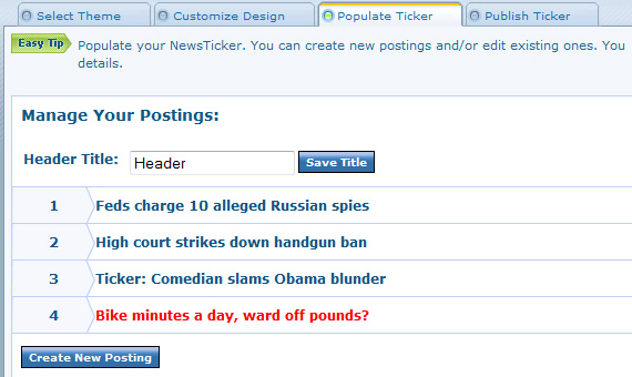 Organize your postings