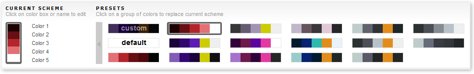 Color Scheme Site Builder
